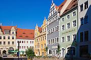 Altstadt, Marktplatz, Meißen, Sachsen, Deutschland. . old town of Meissen, market square, Saxony, Germany.