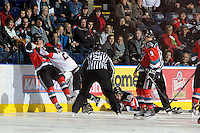 KELOWNA, CANADA, OCTOBER 26:  the Prince George Cougars visit  the Kelowna Rockets  on October 26, 2011 at Prospera Place in Kelowna, British Columbia, Canada (Photo by Marissa Baecker/Shoot the Breeze) *** Local Caption ***