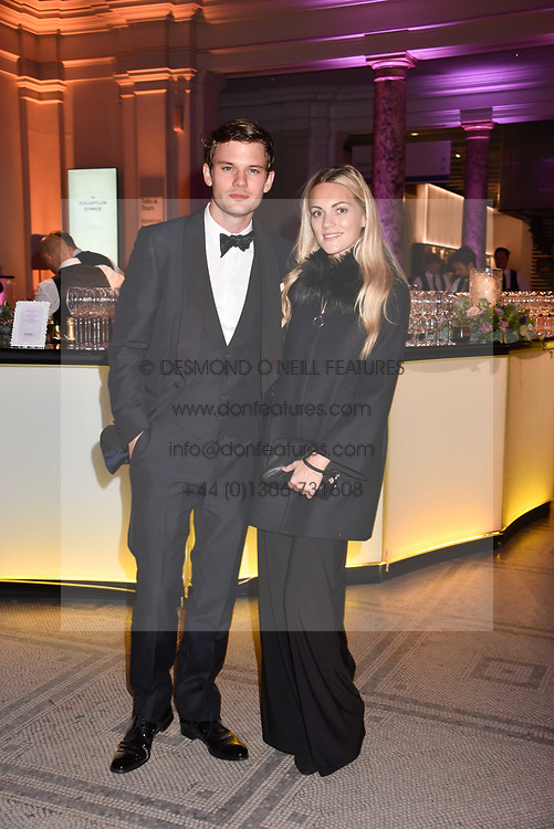 Jeremy Irvine and Jodie Spencer at The Sugarplum Dinner 2017 to benefit the type 1 diabetes charity JDRF held at the Victoria & Albert Museum, Cromwell Road, London England. 14 November 2017.<br /> Photo by Dominic O'Neill/SilverHub 0203 174 1069 sales@silverhubmedia.com