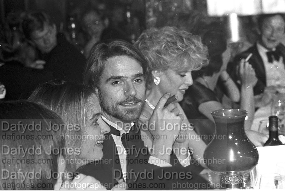 Jeremy irons, Gerrard fashion show evening,  Annabels, 4  October 1983. © Copyright Photograph by Dafydd Jones 66 Stockwell Park Rd. London SW9 0DA Tel 020 7733 0108 www.dafjones.com