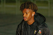 Yann Gboho (34) arrives ahead of the Europa League match between Celtic and Rennes at Celtic Park, Glasgow, Scotland on 28 November 2019.
