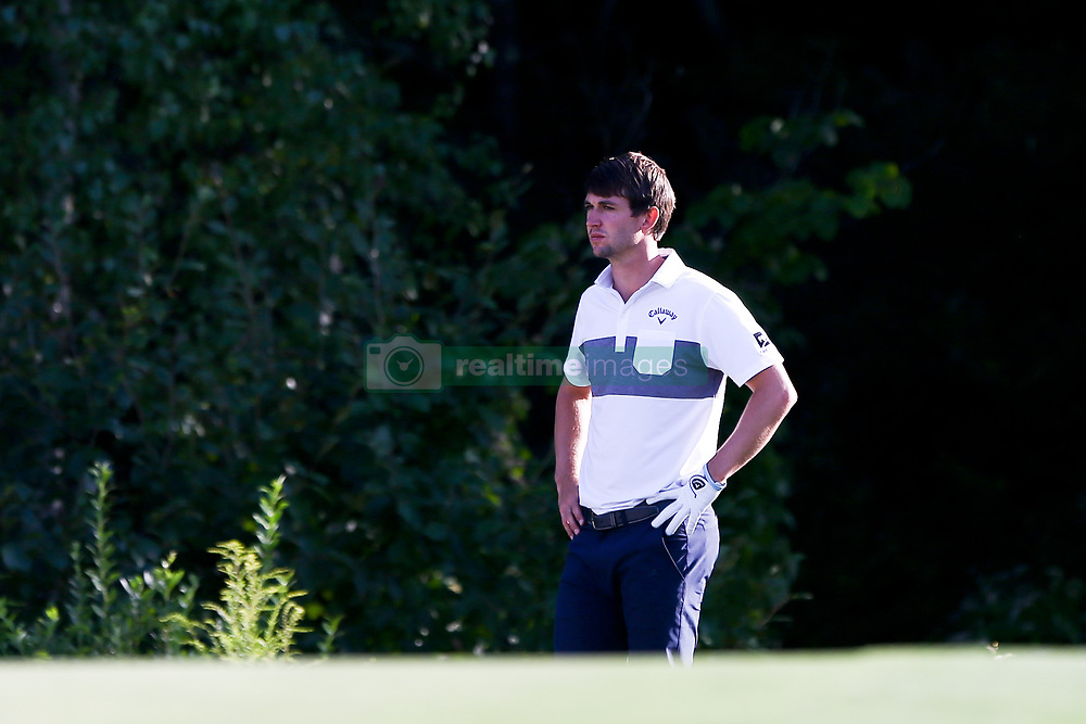 September 1, 2017 - Norton, Massachusetts, United States - Ollie Schniederjans waits on the 18th green during the first round of the Dell Technologies Championship on at TPC Boston. (Credit Image: © Debby Wong via ZUMA Wire)