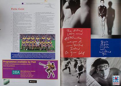 All Ireland Senior Hurling Championship Final,.08.09.2002, 09.08.2002, 8th September 2002,.Senior Kilkenny 2-20, Clare 0-19,.Minor Kilkenny 3-15, Tipperary 1-7,.8092002AISHCF,.National Lottery,