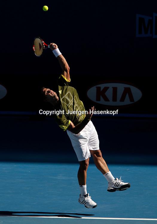 Australien, Melbourne, Sport, Tennis, Grand Slam Tournament, Melbourne Park, Australian Open 2009,..Fernando Verdasco (ESP))......Foto: Juergen Hasenkopf..