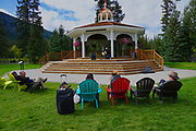 Gazebo, Guitar entertainment, Banf, Alberta, Canada