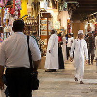 Afternoon shopping in the Muttrah Souk in the capital city of Muscat.