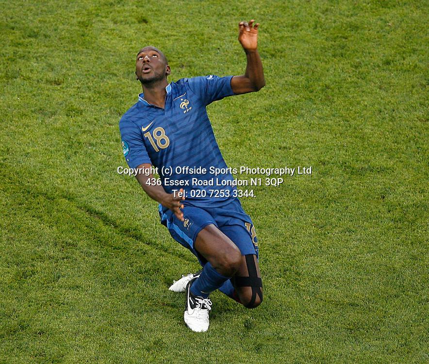 11/06/2012 European football championships. France v England.<br /> Alou Diarra.<br /> Photo: Mark Leech.