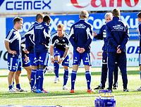 Fotball Herrer Tippeligaen 2012<br /> Marienlyst Stadion Gamle gress 31.03.2012<br /> <br /> Strømsgodset vs Vålerenga<br /> <br /> Resultat <br /> <br /> Foto: Robert Christensen Digitalsport<br /> <br /> Vif Marcus Pedersen forbereder seg til første møte med gamleklubben Strømsgodset