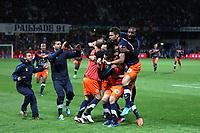 FOOTBALL - FRENCH CHAMPIONSHIP 2011/2012 - L1 - MONTPELLIER HSC v LILLE OSC - 13/05/2012 - PHOTO MANUEL BLONDEAU / DPPI - JOIE DES JOUEURS DE MONTPELLIER