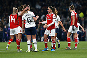 Danielle Van De Donk and Anna Filbey after the FA Women's Super League match between Tottenham Hotspur Women and Arsenal Women FC at Tottenham Hotspur Stadium, London, United Kingdom on 17 November 2019.