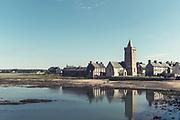 Romanische Kirche und Dorf Portbail, Normandie, Frankeich