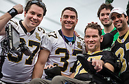New Orleans, Louisiana,February 10, Steve Gleason, former Saints player rides in the Bacchus parade during Mardi Gras 2013.  Gleason was a safety with the New Orleans Saints of the National Football League (NFL)  now battling ALS, commonly known as Lou Gehrig's disease.