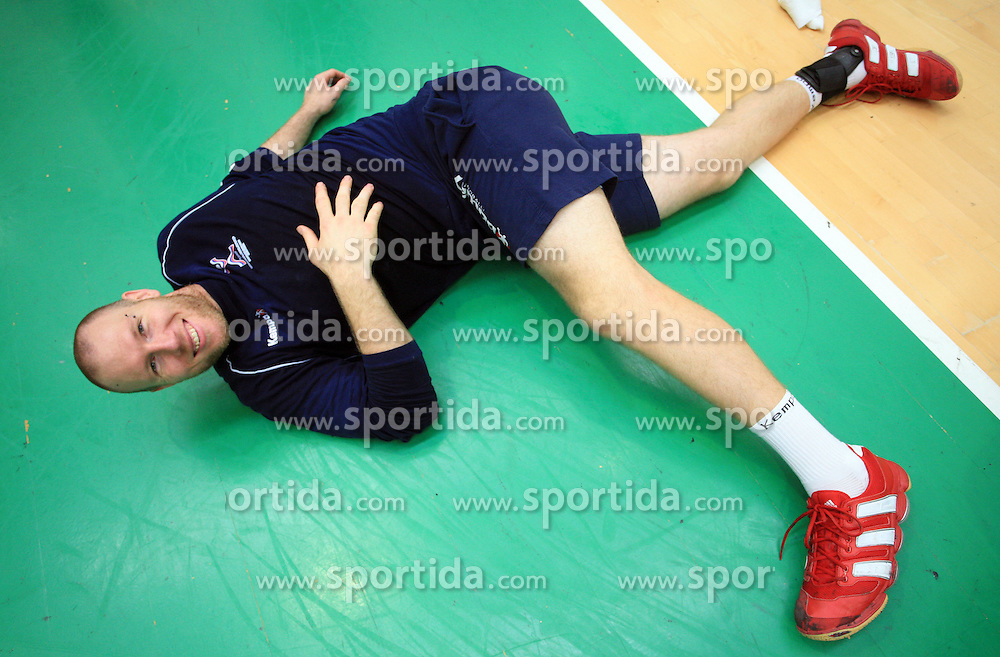 Ales Pajovic at practice of Slovenian handball men national team before going to Israel, on October 27, 2008 in Lasko, Slovenia. (Photo by Vid Ponikvar / Sportal Images)