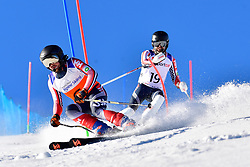 BURTON Kevin, Guide: GRIMMELMANN Kurt, B2, USA, Slalom at the WPAS_2019 Alpine Skiing World Cup, La Molina, Spain