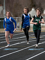 Track meet at Gilford High School April 21, 2011.
