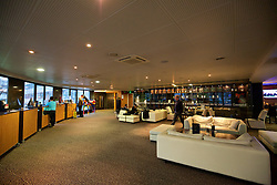 BORDEAUX, FRANCE - Tuesday, January 26, 2016: Winch lounge and bar at the Quality Suites Bordeaux Airport Hotel & Spa on an inspection visit ahead of the UEFA Euro 2016 Tournament. (Pic by David Rawcliffe/Propaganda)