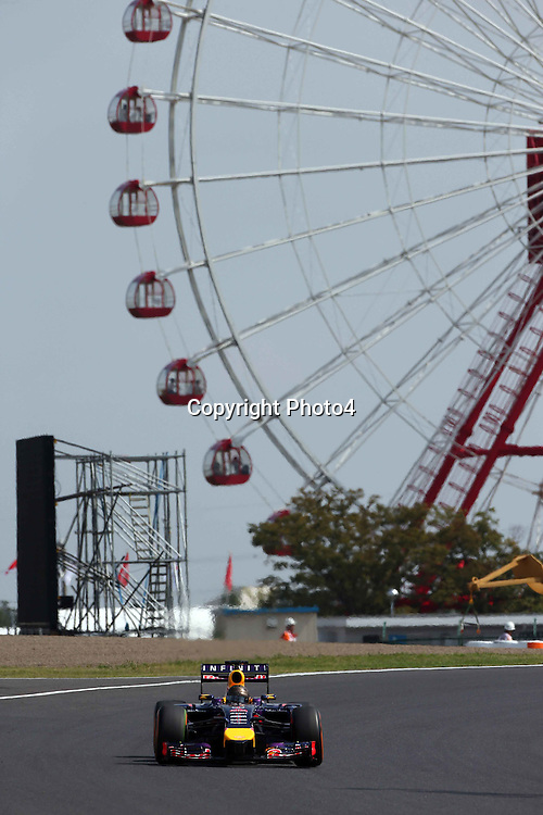 &copy; Photo4 / LaPresse<br /> 03/10/2014<br /> Sport <br /> Grand Prix Formula One Japan 2014<br /> In the pic: Sebastian Vettel (GER), Red Bull Racing, RB10