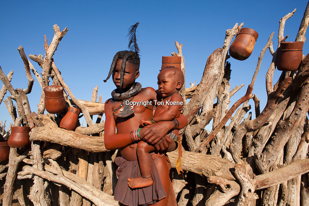 Himba tribe in Namibia.