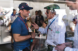 November 12, 2017 - Brazil - SAO PAULO, SP - 12.11.2017: GRANDE PR MIO DO BRASIL DE FORMULA 1 2017 - Rubens Barrichello and Jackie Stweart moments before the race of the Brazil F1 GP 2017 held at the Autodromo of Interlagos in Sao Paulo, SP. (Credit Image: © Fotoarena via ZUMA Press)