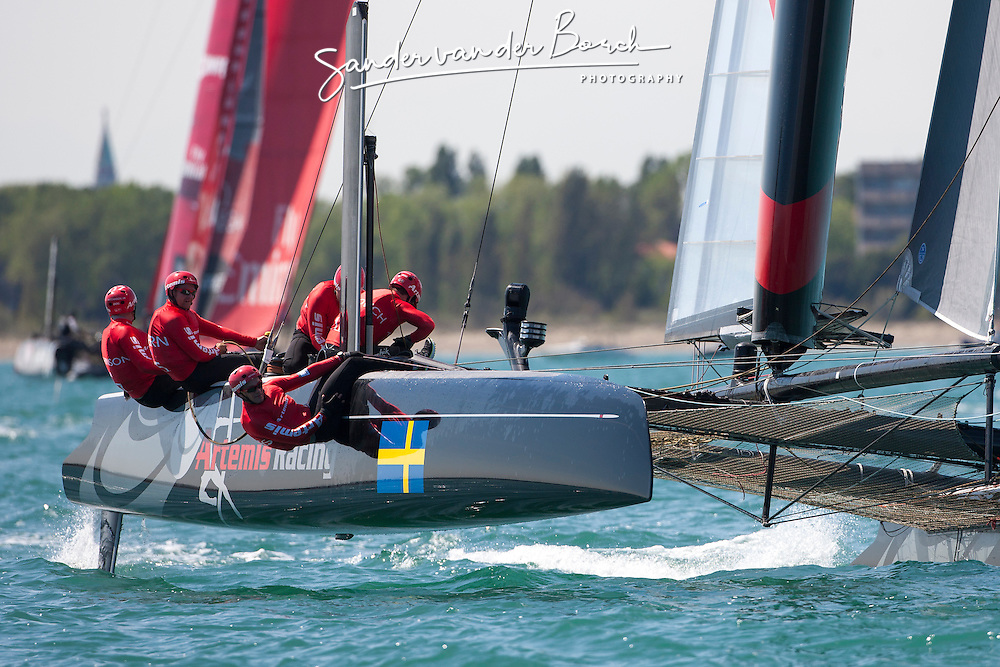First day of Racing. Thursday, May 17th 2012, AC45 World Series Venice.