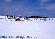 Rural Winter Snow and Farm Scene, Cumberland Co. PA