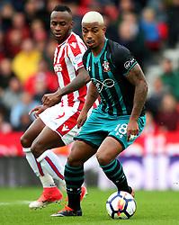 Mario Lemina of Southampton and Saido Berahino of Stoke City - Mandatory by-line: Matt McNulty/JMP - 30/09/2017 - FOOTBALL - Bet365 Stadium - Stoke-on-Trent, England - Stoke City v Southampton - Premier League