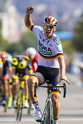 September 1, 2018 - Bruxelle, Belgique - ACKERMANN Pascal (GER) of Bora - Hansgrohe wins the Brussels Cycling Classic 2018  with start and finish in Brussels on September 01, 2018 in Brussel, Belgium, 1/09/2018 (Credit Image: © Panoramic via ZUMA Press)