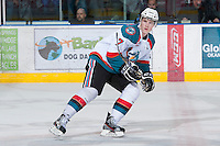 KELOWNA, CANADA - JANUARY 24:  Damon Severson #7 of the Kelowna Rockets skates on the ice against the Seattle Thunderbirds at the Kelowna Rockets on January 24, 2013 at Prospera Place in Kelowna, British Columbia, Canada (Photo by Marissa Baecker/Shoot the Breeze) *** Local Caption ***