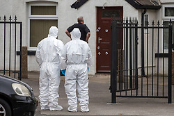 © Licensed to London News Pictures. 03/08/2018. Leeds UK. A man has been shot &  seriously injured in Leeds this morning. Police are at the scene on Tong Road in the Armley area of the city. This is the second shooting in Leeds this week, a 24 year old man died after being shot in the Chapeltown area of Leeds on Wednesday. Photo credit: Andrew McCaren/LNP