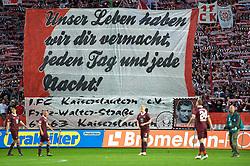 29.04.2011, Fritz-Walter Stadion, Kaiserslautern, GER, 1. FBL, 1.FC Kaiserslautern vs FC St. Pauli, im Bild ein Banner der Fans von Kaiserslautern, EXPA Pictures © 2011, PhotoCredit: EXPA/ nph/  Roth       ****** out of GER / SWE / CRO  / BEL ******