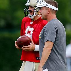 8/14/2013 9:40:14 AM -- New Orleans, LA  -- Saints rebirth with the return of Head Coach Sean Payton with quarterback Drew Brees --    Photo by Derick E. Hingle , Gannett