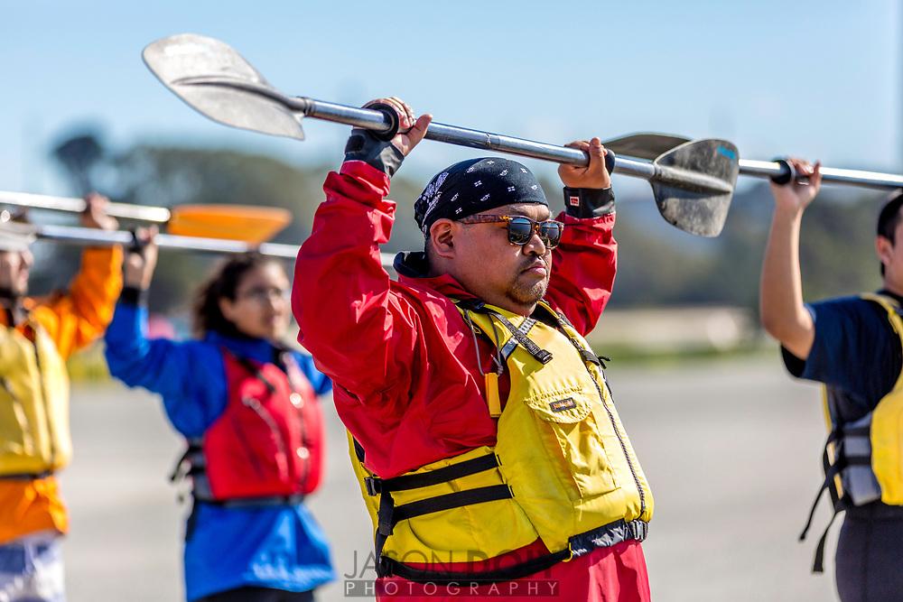 Leading through example, Mr. Tacata takes charge in Kayaking basics.