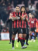 Callum Wilson (13) of AFC Bournemouth applauds the fans at full time during the Premier League match between Bournemouth and Brighton and Hove Albion at the Vitality Stadium, Bournemouth, England on 21 January 2020.