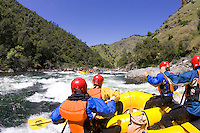 White water rafting on the Tuolumne River, near Yosemite National park, CA.