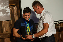 Darko Duric with major of Naklo Marko Majer during reception of Slovenian paralympic swimmer Darko Duric after getting gold and bronze medal at swimming European Championship, Podbrezje, 22th of August, Slovenia Photo by Grega Valancic / Sportida