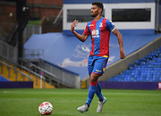Luke Croll looks for options during the Final Third Development League match between U21 Crystal Palace and U21 Bristol City at Selhurst Park, London, England on 3 November 2015. Photo by Michael Hulf.
