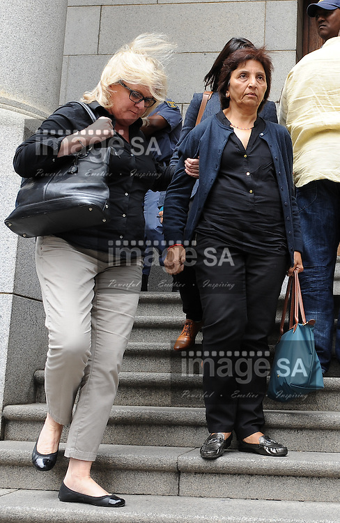 CAPE TOWN, SOUTH AFRICA – OCTOBER 30: Snila Dewani, mother of Shrien Dewani, leaves the Western Cape High Court on October 30, 2014 in Cape Town, South Africa. Dewani is accused of organising his wife's murder while they were on honeymoon in Cape Town in 2010, he has pleaded not guilty to all charges. (Photo by Gallo Images / Roger Sedres)