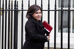 © Licensed to London News Pictures. 07/01/2013. London, UK. Minister without Portfolio Baroness Warsi is seen on Downing Street in London today (07/01/13) before the first cabinet meeting of 2013. Photo credit: Matt Cetti-Roberts/LNP