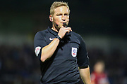 Referee John Busby during the EFL Cup match between Burton Albion and Bournemouth at the Pirelli Stadium, Burton upon Trent, England on 25 September 2019.