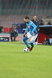 November 21, 2017 - Napoli, Campania/Napoli, Italy - Soccer match between SSC Napoli  and   FC Shakhtar Donetsk    at San Paolo  Stadium in Napoli .final result Napoli vs. FC Shakhtar Donetsk   3-0.In photo,Elseid Hysaj (SSC NAPOLI  (Credit Image: © Salvatore Esposito/Pacific Press via ZUMA Wire)