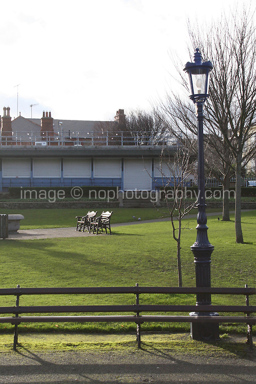Winter sunlight at The People?s Park in DunLaoghaire Dublin Ireland