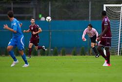 Zan Pelko and Marko Roskar of NK Triglav during football match between NK Triglav Kranj and ND Gorica, 7th Round of Prva Liga, on 26 August, 2012, in Sportni center, Kranj, Slovenia. (Photo by Grega Valancic / Sportida)