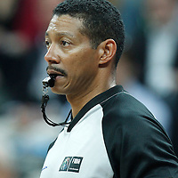 30 July 2012: Referee Kennedy William is seen during the 74-70 Team France overtime victory over Team Australia, during the women's basketball preliminary, at the Basketball Arena, in London, Great Britain.