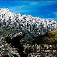 Remarkables mountain range with snow