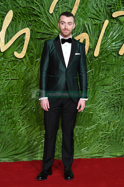 Sam Smith attending the Fashion Awards 2017, in partnership with Swarovski, held at the Royal Albert Hall, London. Picture Credit Should Read: Doug Peters/ EMPICS Entertainment