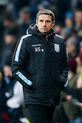 Aston Villa Manager Remi Garde leaves the pitch lookin unexcited even after his side win 2-0 - Mandatory byline: Rogan Thomson/JMP - 19/01/2016 - FOOTBALL - Villa Park Stadium - Birmingham, England - Aston Villa v Wycombe Wanderers - FA Cup Third Round Replay.