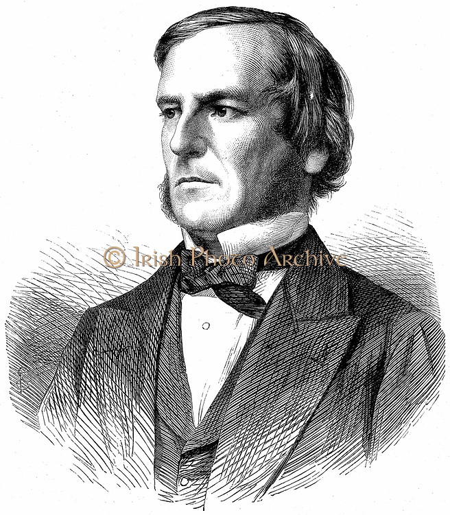 George Boole  (1815-1865). English mathematician and logician. Wood engraving, 1865.