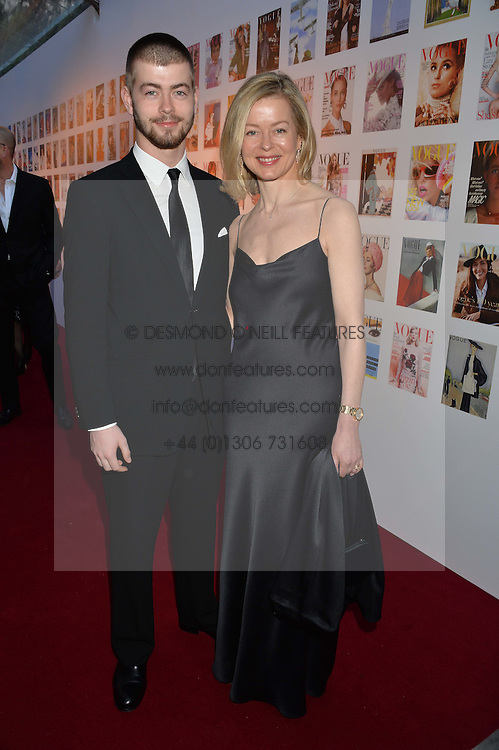 LADY HELEN TAYLOR and her son CASSIUS TAYLOR at British Vogue's Centenary Gala Dinner in Kensington Gardens, London on 23rd May 2016.