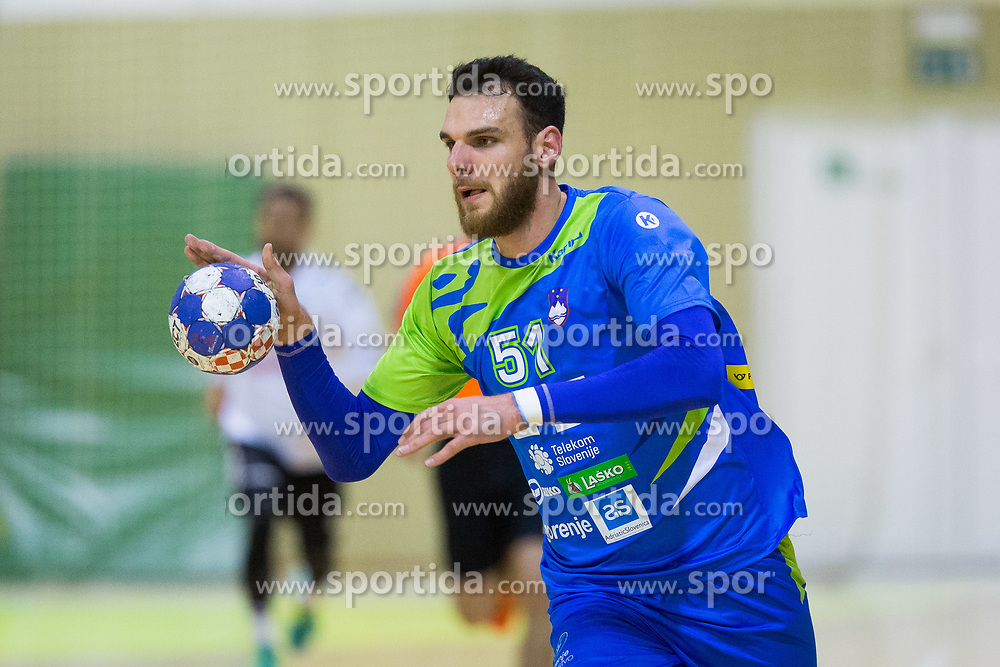 Borut Mackovsek of Slovenia during Handball friendly match between Slovenia and Iran, on January 4, 2018 in Dol pri Hrastniku, Dol pri Hrastniku, Slovenia. Photo by Ziga Zupan / Sportida