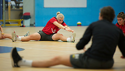 TREFOREST, WALES - Tuesday, February 14, 2011: Wales' goalkeeper Sophie Dando during a fitness testing day at the Glamorgan Sports Park. (Pic by David Rawcliffe/Propaganda)